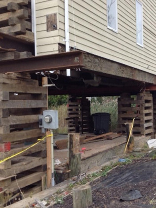 Acme piling foundation repair toms river nj for Wood piling foundation